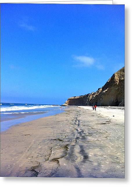 California Beach Hike Greeting Card