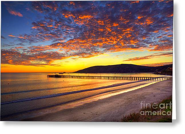 Avila Beach Sunset Greeting Card