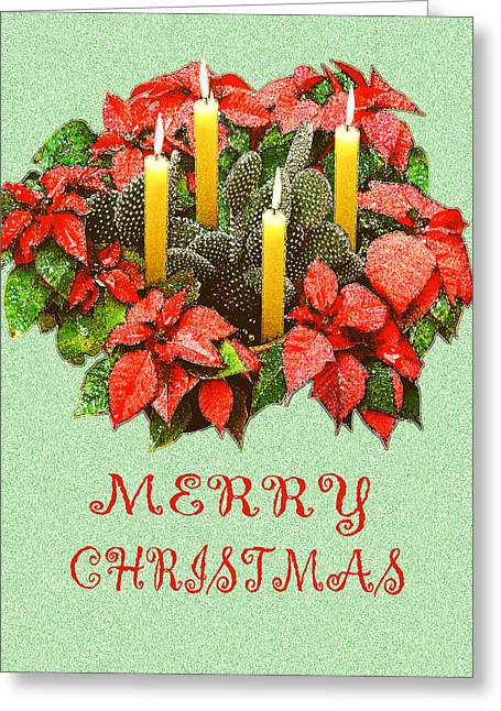 California Cactus Christmas Greeting Card