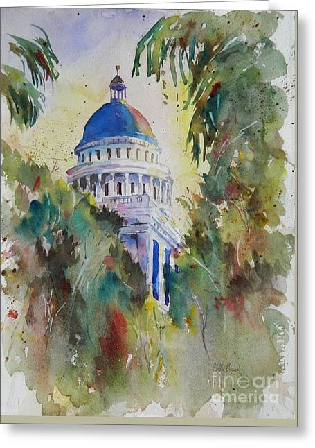 California Capitol Building Greeting Card by William Reed