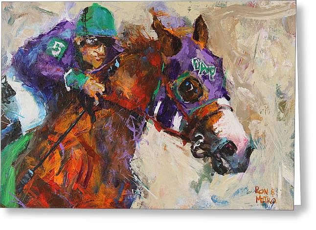 California Chrome Greeting Card by Ron and Metro