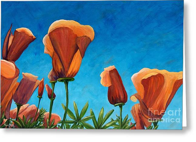 Greeting Card featuring the painting California Closeup by Terry Taylor