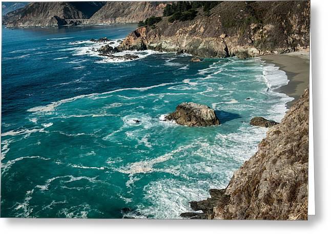 California Coast - Big Creek Bridge Greeting Card by George Buxbaum