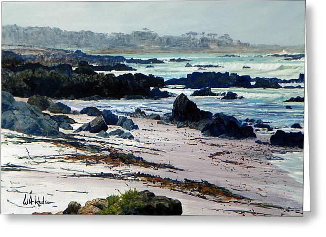 California Coast Greeting Card by Bill Hudson