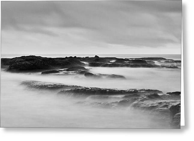 California Coast Long Exposure In The Morning Greeting Card by Andrew Raby