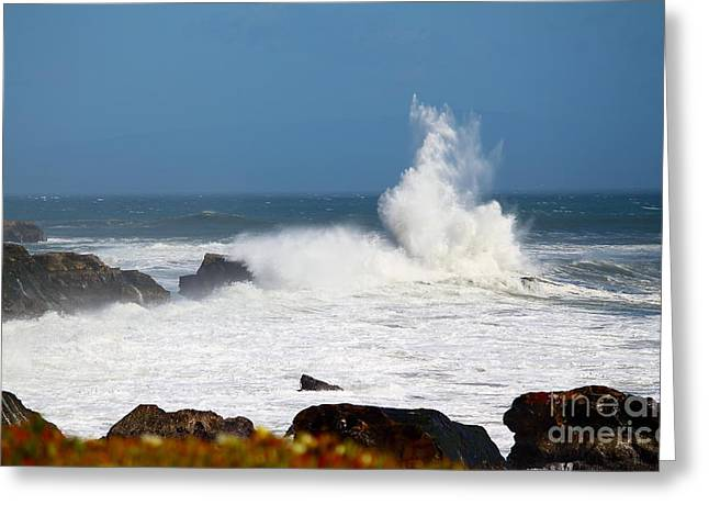 Greeting Card featuring the photograph California Coast4 by Theresa Ramos-DuVon