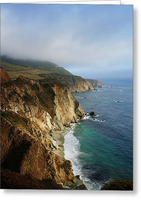 California Coastline Along State Route Greeting Card by Daniel Alexander