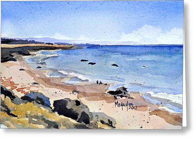 California Coastline Greeting Card by Spencer Meagher