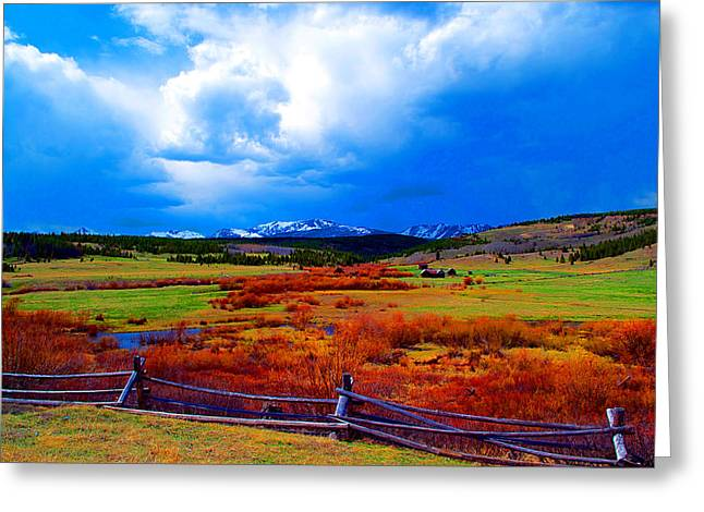 Greeting Card featuring the photograph California Creek Homestead by Kevin Bone