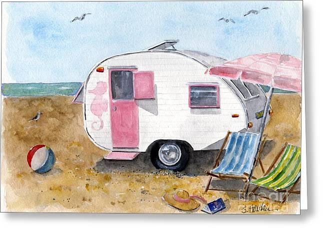 California Dreamin' Greeting Card by Sheryl Heatherly Hawkins