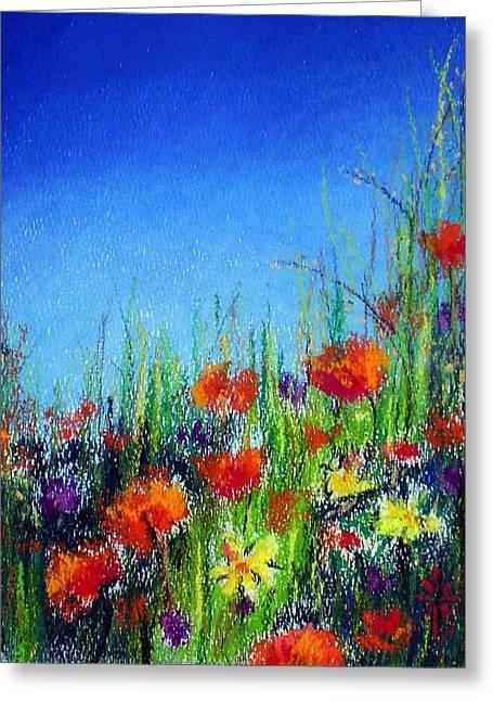 California Dreaming Greeting Card by Jodie Marie Anne Richardson Traugott          aka jm-ART