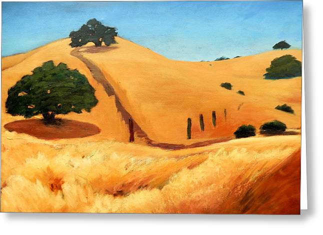 California Dry Grass Greeting Card