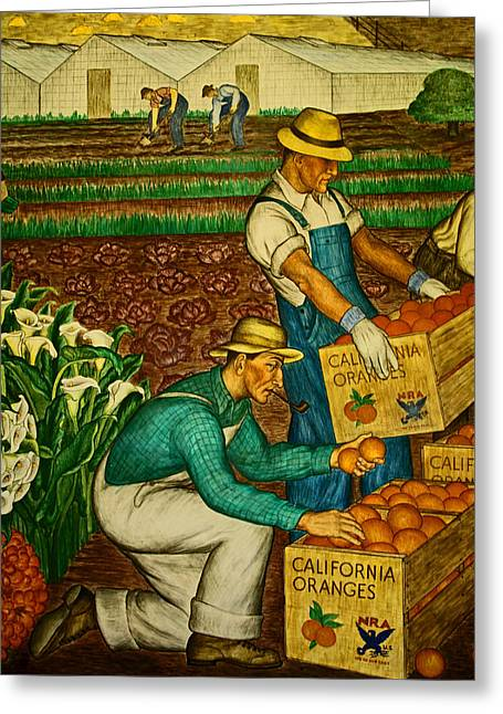 California Farmers Greeting Card