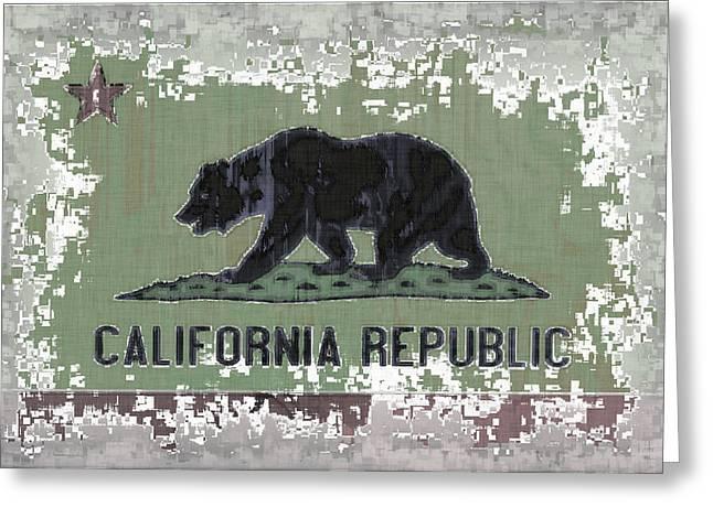 California Flag Abstract Greeting Card by David G Paul