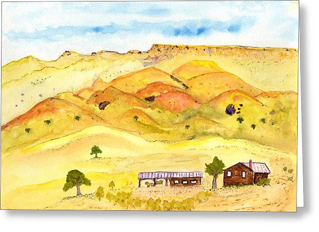 California Foothill Homestead Greeting Card