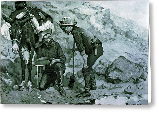 California Gold Rush, 1849 Greeting Card
