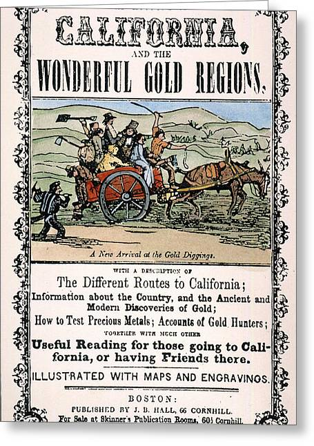 California Gold Rush Guide Greeting Card by Granger