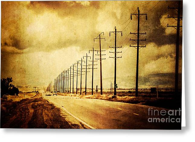 California Highway Greeting Card by Pam Vick