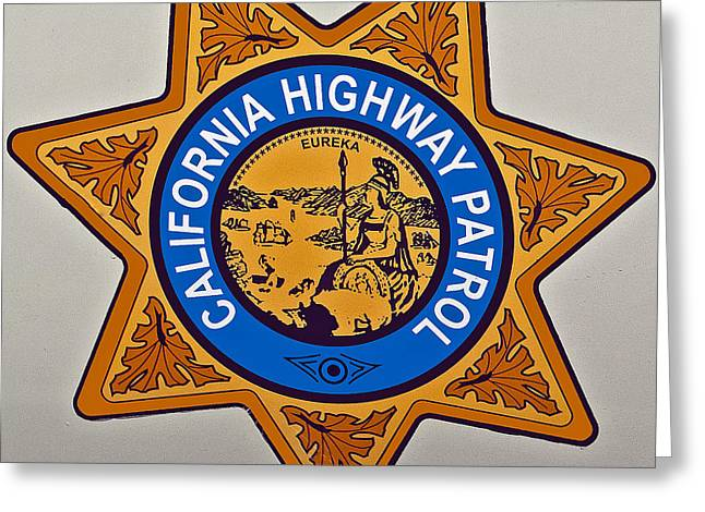 California Highway Patrol Greeting Card