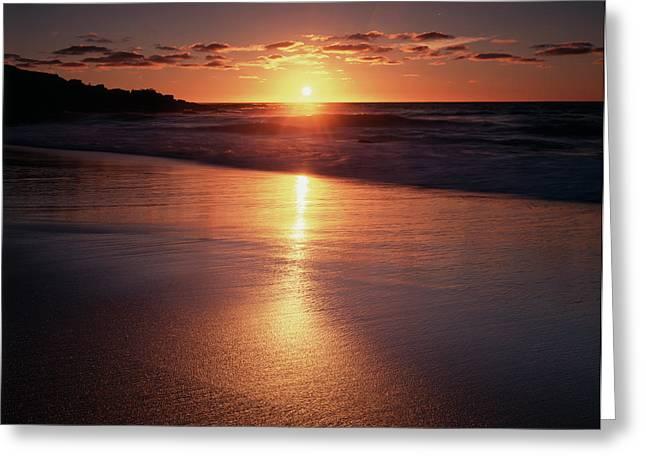 California, La Jolla, Sunset Greeting Card by Christopher Talbot Frank