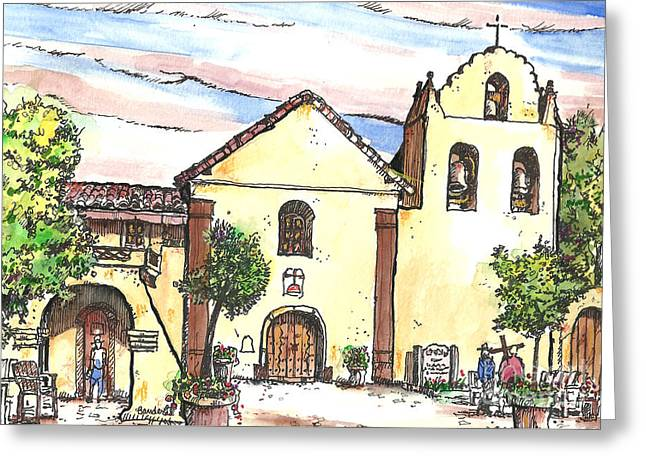 California Mission-santa Ines Greeting Card by Terry Banderas