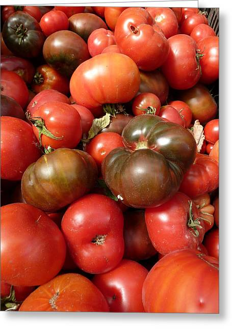 California Napa - Cakebread Tomatoes Greeting Card by Benjamin Weinberg