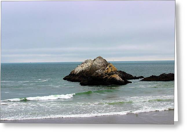 California Ocean Beach Greeting Card by Becca Buecher