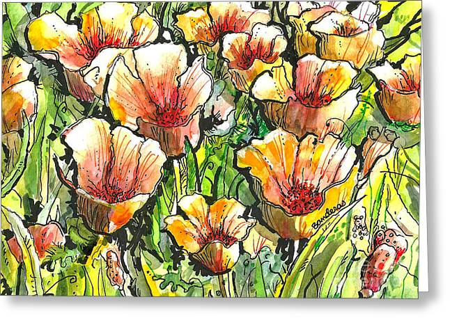 California Poppies Greeting Card by Terry Banderas