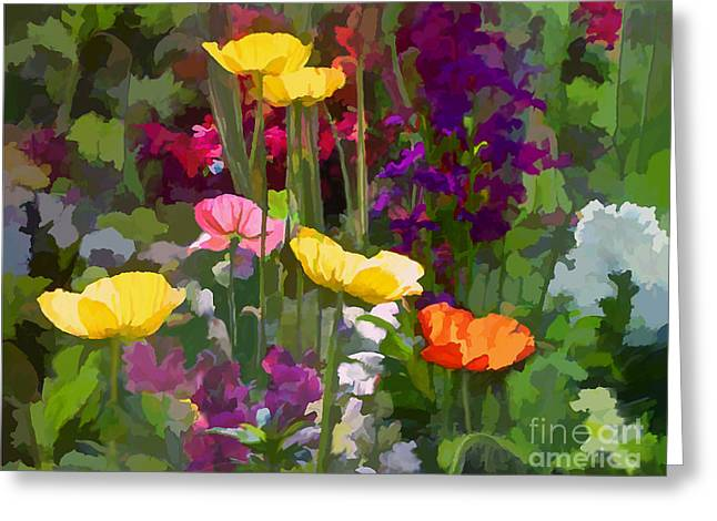 California Poppies Greeting Card by Ursula Freer