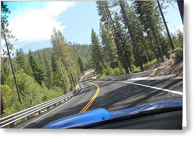 California Road Greeting Card by Dean Drobot