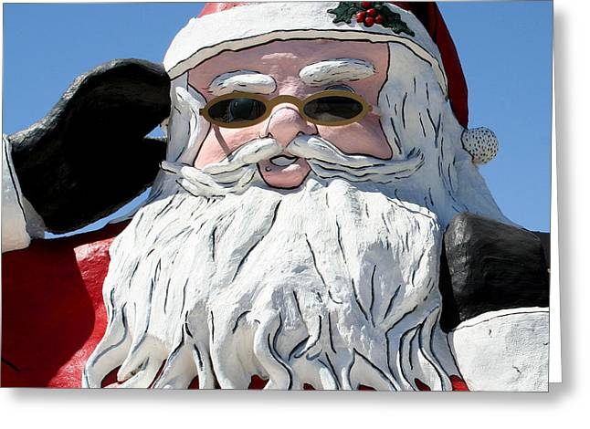 California Santa Greeting Card