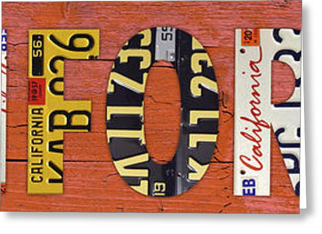 California State Name In License Plates Art Mixed Media By Design With Interior