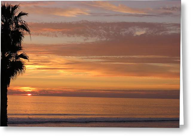 California Sunset Greeting Card by Charles Ables