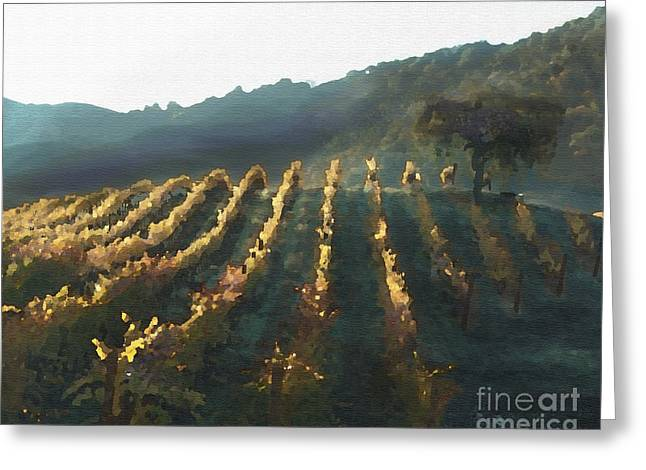 California Vineyard Series Wine Country Greeting Card by Artist and Photographer Laura Wrede