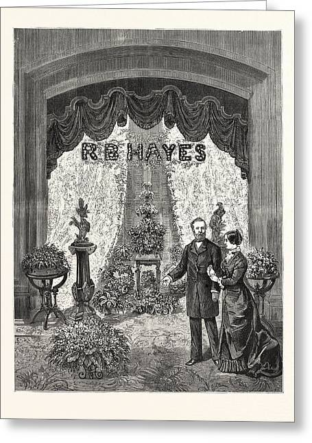 California Visit Of President Hayes And Party To San Greeting Card by American School