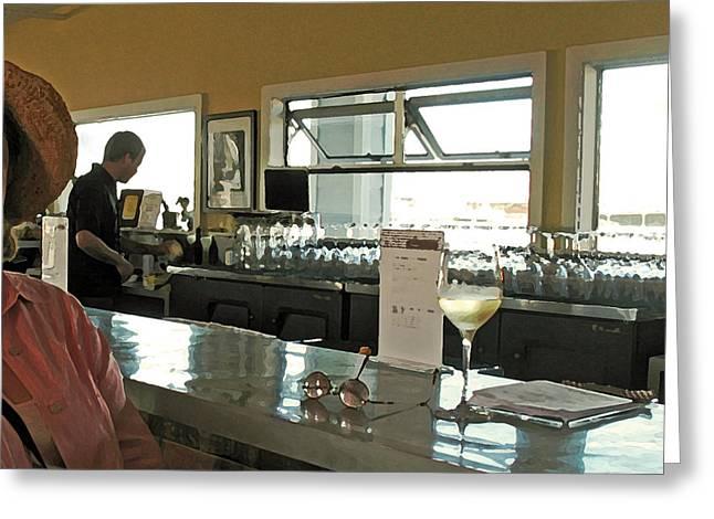 California Wine Tasting Greeting Card by Connie Fox