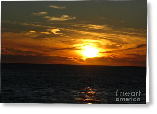 California Winter Sunset Greeting Card