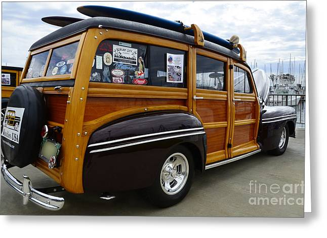 California Woodie 2 Greeting Card by Bob Christopher