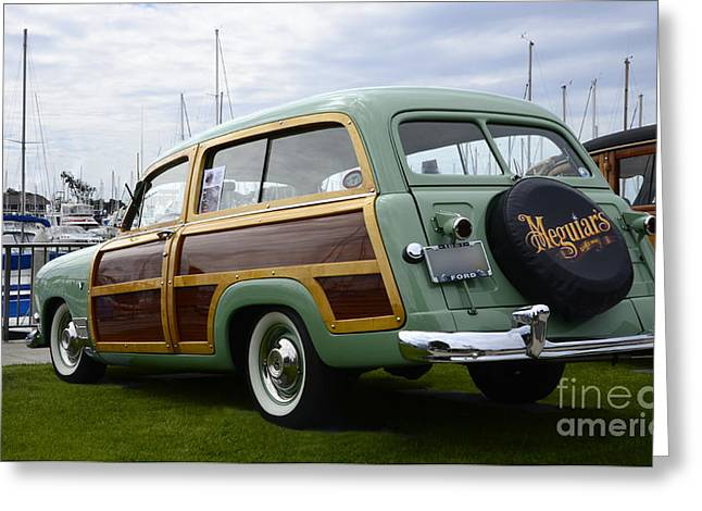 California Woodie 3 Greeting Card by Bob Christopher