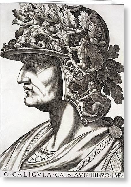 Caligula Caesar , 1596 Greeting Card by Italian School