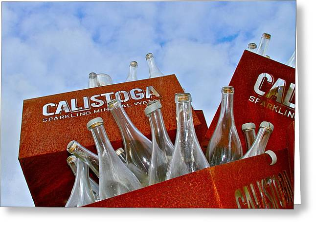 Calistoga Bubbles Greeting Card by Michael Blesius