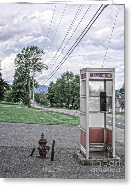 Call Me When You Get There Greeting Card by Edward Fielding