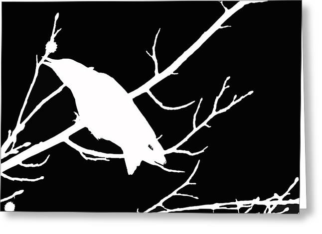 Call Of The Crow Bw Infrared Style Art Greeting Card by Lesa Fine