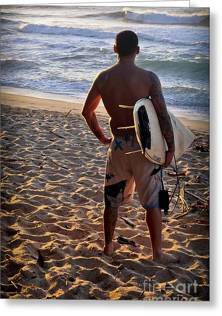 Greeting Card featuring the photograph Call Of The Surf by Gina Savage