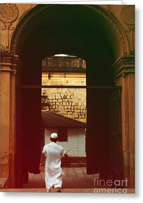Greeting Card featuring the photograph Call To Prayer by Mini Arora