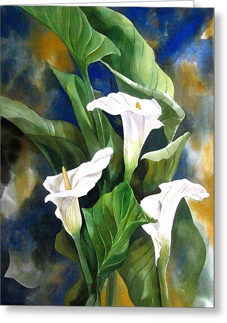 Calla Lily Greeting Card by Alfred Ng