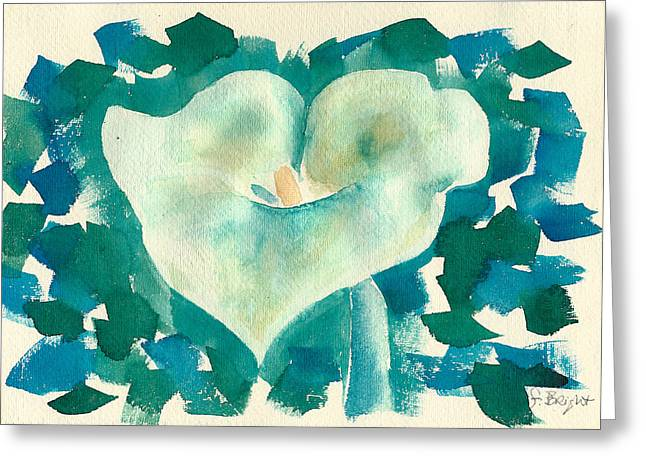 Calla Lily Watercolor Greeting Card