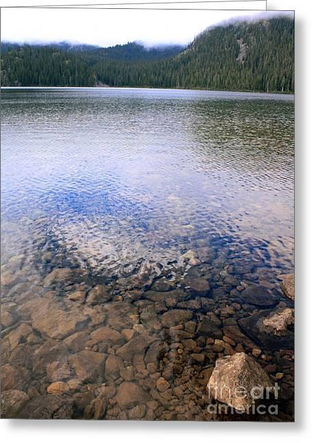 Callaghan Lake Stones Greeting Card by Amanda Holmes Tzafrir