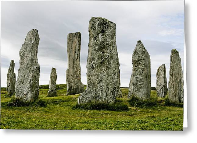 Callanish Standing Stones Greeting Card by Toby Adamson
