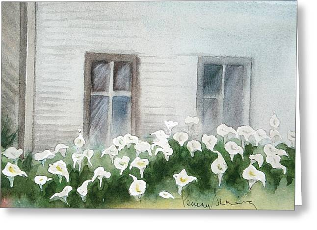 Callas By  Shack Greeting Card